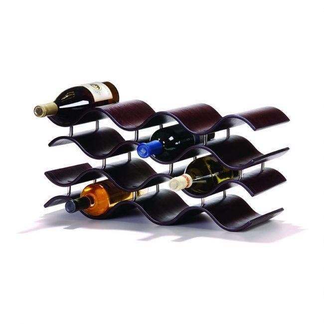 The Best Wine Rack Option: Oenophilia Bali Wine Rack, Ebony - 12 Bottle