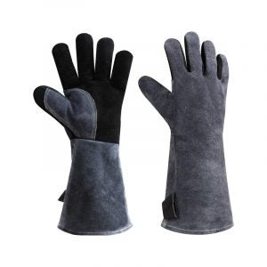 The Best BBQ Glove Option: Ozero Leather Heat Resistant BBQ Glove