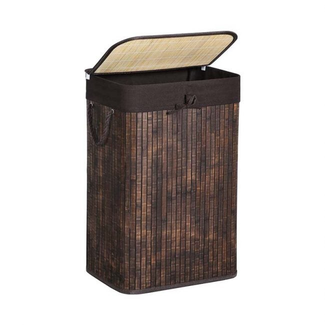 The Best Laundry Hamper Option: SONGMICS Bamboo Laundry Hamper with Lid
