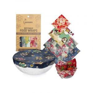 The Best Beeswax Wrap Option: Savourio Reusable Beeswax Food Wrap