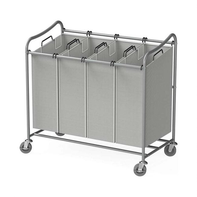 The Best Laundry Hamper Option: Simple Houseware 4-Bag Heavy Duty Laundry Sorter