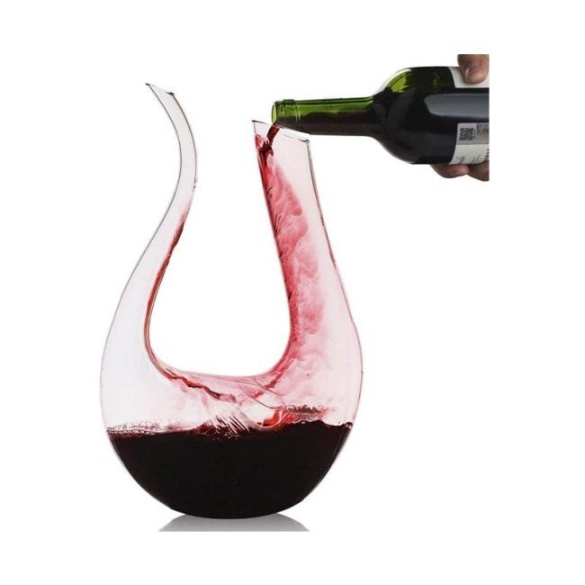 The Best Wine Decanter Option: Smaier U-Shape Wine Aerator Decanter