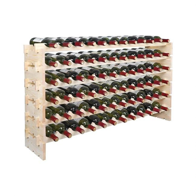 The Best Wine Rack Option: Smartxchoices 72-Bottle Freestanding Wine Rack