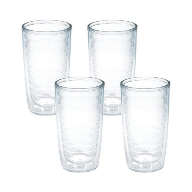 The Best Drinking Glass Option: Tervis 4-Pack Tumbler, 16 Ounce