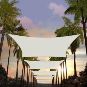 The Best Shade Sail Option: Amgo 12' x 16' Rectangle Sun Shade Sail