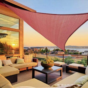 """The Best Shade Sail Option: LOVE STORY 16'5"""" x 16'5"""" x 16'5"""" Triangle Shade"""