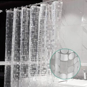 The Best Shower Curtain Liner Option: ARICHOMY Shower Curtain Liner
