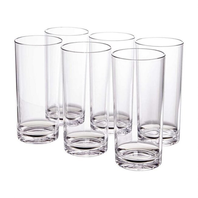 The Best Drinking Glass Option: US Acrylic Classic 24-ounce Plastic Tumbler Set of 6
