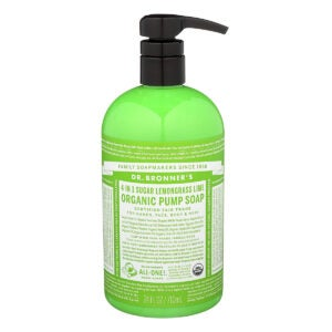 Best Hand Soap Options: Dr. Bronner's Organic Lemongrass Lime Sugar Soap