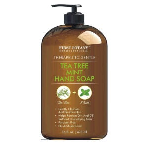 Best Hand Soap Options: Tea Tree Mint Hand Soap - Liquid Hand Soap with Peppermint