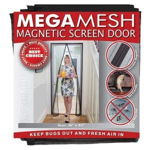 The Best Magnetic Screen Door Option: MEGAMESH Magnetic Screen Door