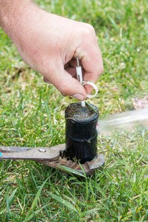 Sprinkler Repair: Cleaning Sprinkler Head