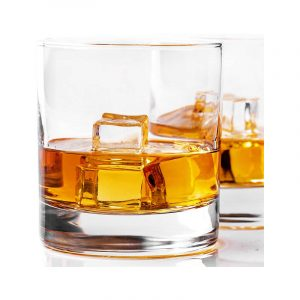 The Best Whiskey Glass Option: Taylor'd Milestones Glassware Whiskey Glass Set of 2