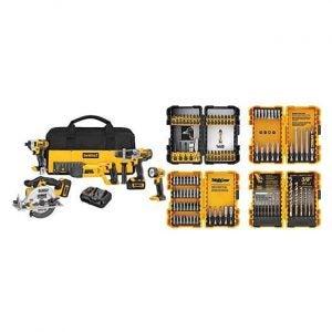 The Best Power Tool Set Option: DEWALT DCK592L2 20V MAX Premium 5-Tool Combo Kit