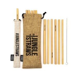 The Best Reusable Straw Option: Jungle Straws Reusable Bamboo Straws, 12-Pack