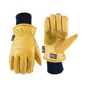 The Best Winter Work Gloves Option: Wells Lamont Men's HydraHyde Leather Work Gloves
