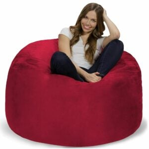 The Best Bean Bag Chairs Option: Chill Bag Memory Foam Bean Bag Chair, 4-Feet