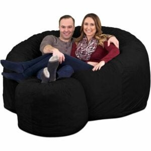 The Best Bean Bag Chairs Option: Ultimate Sack Bean Bag Chair w/Foot Stool