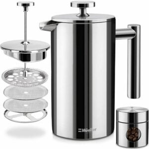 The Best Coffee Maker Option: Mueller French Press Double Insulated Coffee Maker