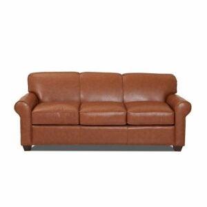 "The Best Sleeper Sofa Option: Jennifer Genuine Leather 81"" Rolled Arm Sofa Bed"