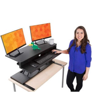 The Best Standing Desk Converter Options: Flexpro Power 40 Inch Electric Standing Desk-V2