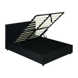 The Best Bed Frame Option: DHP Cambridge Upholstered Faux Leather Platform Bed