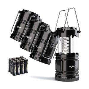 The Best Camping Lantern Option: Vont 4 Pack LED Camping Lantern