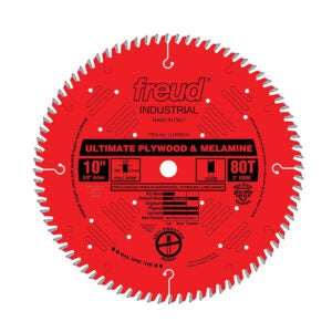 The Best Table Saw Blade Option: Freud 10 x 80T Ultimate Plywood Blade (LU80R010)