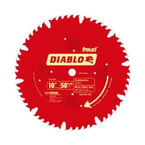 The Best Table Saw Blade Option: Freud D1050X Diablo 10 50-tooth Combo Saw Blade