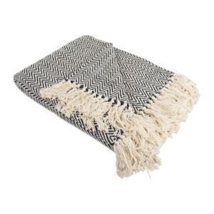 The Best Throw Blanket Option: DII Rustic Farmhouse Cotton Chevron Blanket Throw