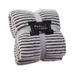 The Best Throw Blanket Option: GREEN ORANGE Fleece Throw Blanket