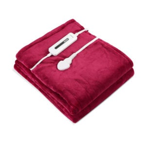 The Best Throw Blanket Option: MaxKare Electric Blanket Heated Throw Flannel & Sherpa