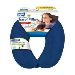 The Best Travel Pillow Option: Clöudz Microbead Travel Neck Pillow