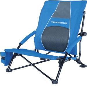 Best Beach Chairs Options: STRONGBACK Low Gravity Beach Chair