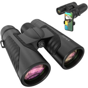 Best Binoculars Options: 12x42 Binoculars for Adults with New Smartphone Photograph Adapter