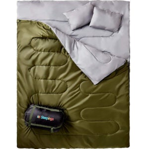 Best Camping Gear Options: Sleepingo Double Sleeping Bag for Backpacking