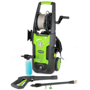Best Electric Pressure Washer Options: Greenworks 1700 PSI 13 Amp 1.2 GPM Pressure Washer