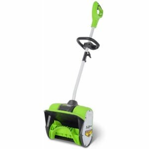 The Best Electric Snow Shovel Option: Greenworks 12-Inch 8 Amp Corded Snow Shovel 2600802