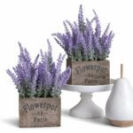 The Best Fake Plants Option: Butterfly Craze Artificial Lavender Potted Plant