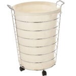 Best Laundry Basket Options: Honey-Can-Do HMP-02108 Steel Canvas Rolling Laundry Hamper