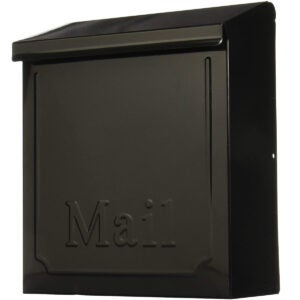 Best Locking Mailbox Options: Solar THVKB0001 THVKB001 Black Townhouse Wall Mount Mailbox