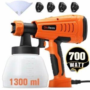 The Best Paint Sprayer For Cabinets Option: Dicfeos Paint Sprayer, 700W HVLP Home Spray Gun