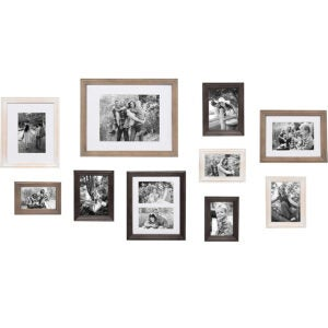 Best Picture Frames Options: Kate and Laurel Bordeaux Gallery Wall Kit