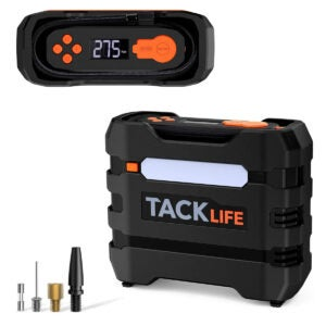 Best Portable Air Compressor Options: TACKLIFE 12V DC Car Tire Inflator Air Compressor