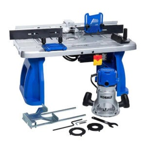Best Router Table Options: Kobalt 1 4-in and 1 2-in Fixed Corded Router with Table