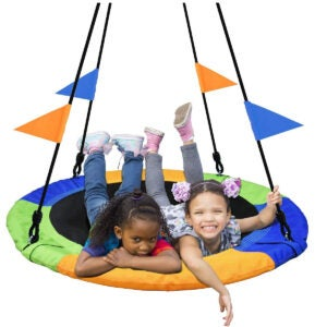 Best Tree Swing Options: PACEARTH 40 Inch Saucer Tree Swing Flying