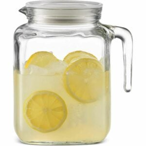 The Best Water Pitcher Option: Bormioli Rocco Hermetic Seal Glass Pitcher With Lid