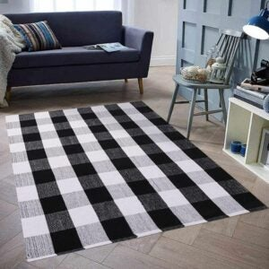 The Best Area Rugs Option: Homcomoda Cotton Plaid Checkered Area Rug