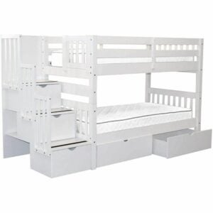 The Best Bunk Beds Option: Bedz King Stairway Bunk Beds Twin over Twin