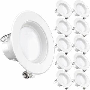 The Best Closet Lighting Option: Sunco Lighting 4-Inch LED Recessed Downlights